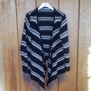 Maurices Woven Cardigan with tassel trim, sz XL